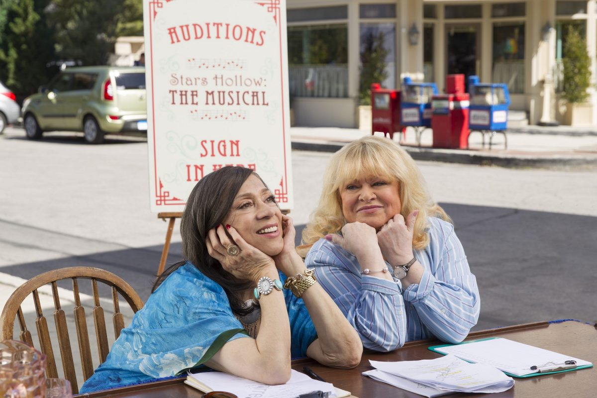 Liz Torres as Miss Patty and Sally Struthers as Babette in 'Gilmore Girls: A Year in the Life'