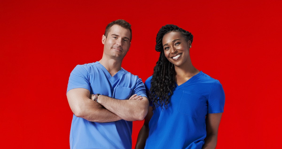 Dr. Brad Schaeffer and Dr. Ebonie Vincent on red background