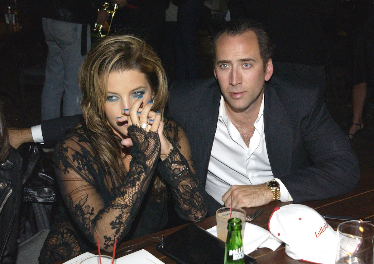 Nicolas Cage and Lisa Marie Presley attend the MTV after party