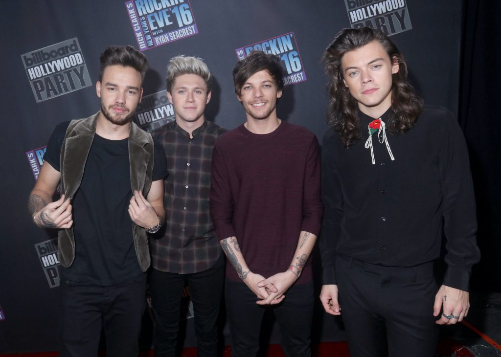 (L-R) Liam Payne, Niall Horan, Louis Tomlinson and Harry Styles