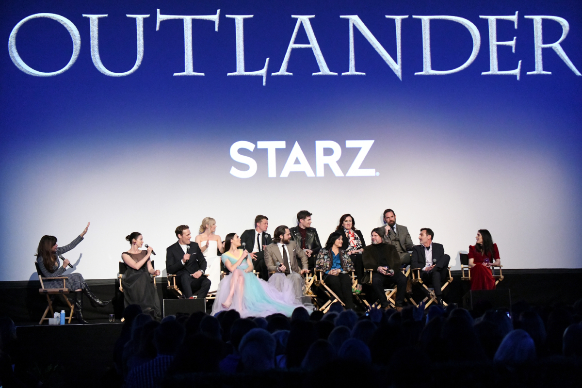 The 'Outlander' cast onstage during the Starz Premiere event for season 5