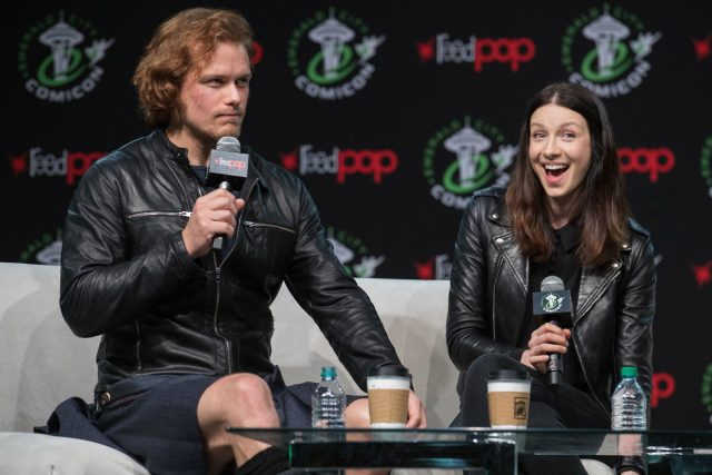'Outlander': Caitriona Balfe Hilariously Face-Palms Sam Heughan In Their Makeup Trailer