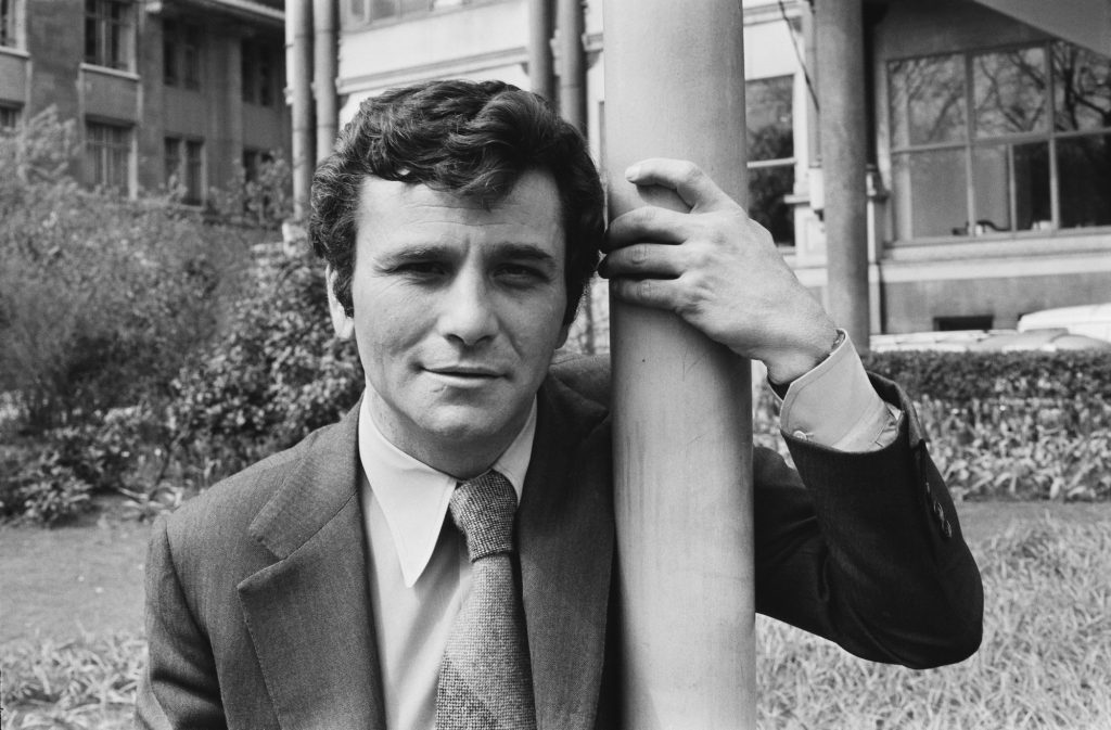 Actor Peter Falk poses for a photograph