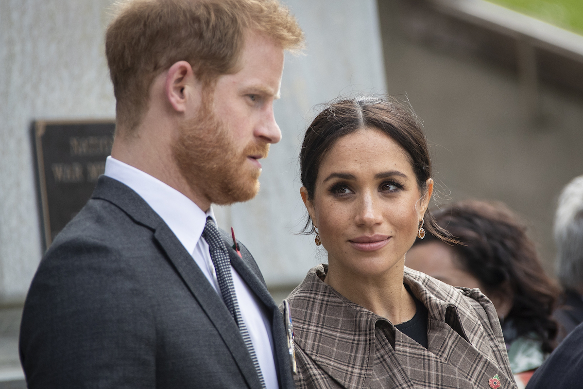 Prince Harry and Meghan Markle at the UK War Memorial in New Zealand