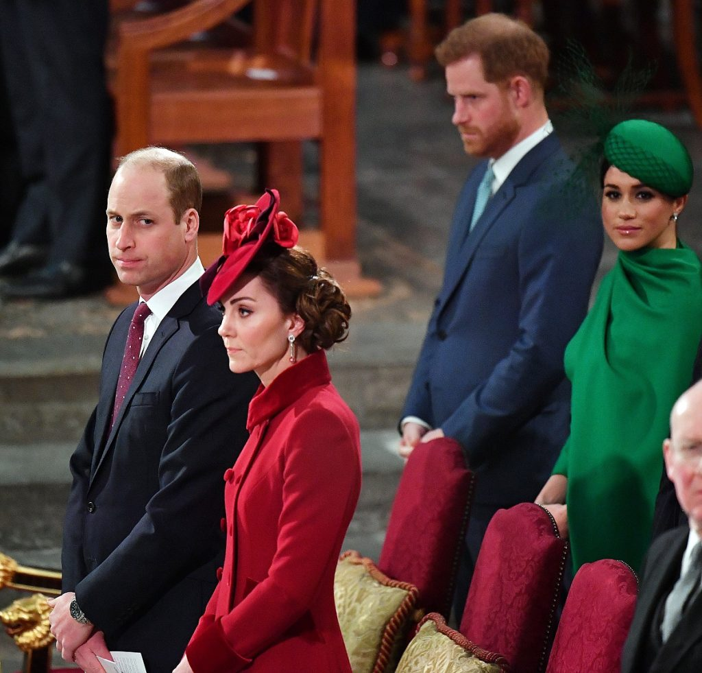 Prince William, Kate Middleton, Prince Harry, and Meghan Markle at Commonwealth Day Service 2020