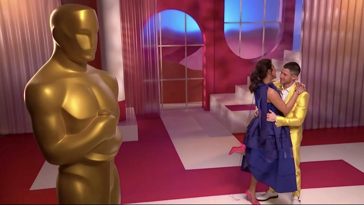 Priyanka Chopra Jonas and Nick Jonas at the 93rd Academy Awards Nominations Announcement