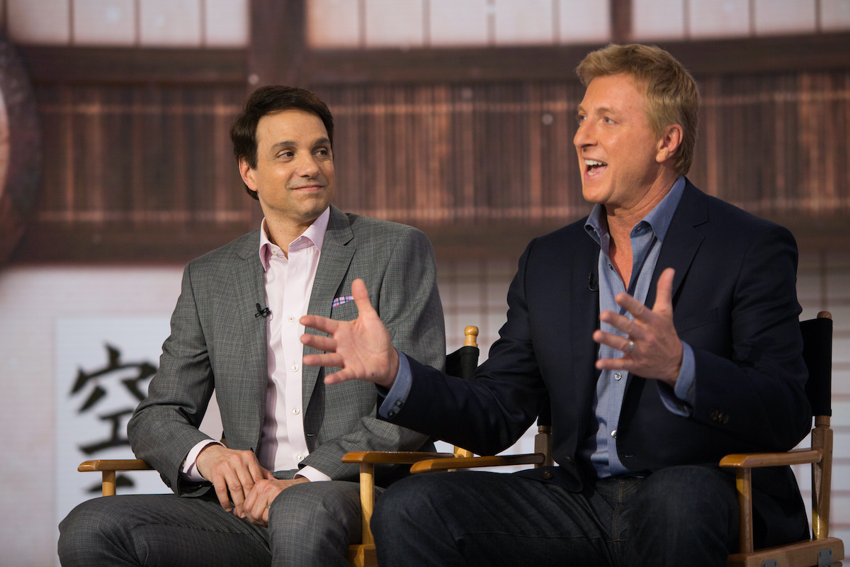 Ralph Macchio and William Zabka in 2018