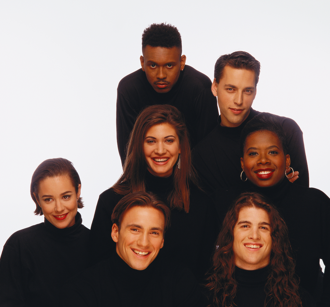 Becky Blasband, Andre Comeau, Heather B. Gardner, Julie Gentry, Norman Korpi, Eric Nies and Kevin Powell from 'The Real World: New York'