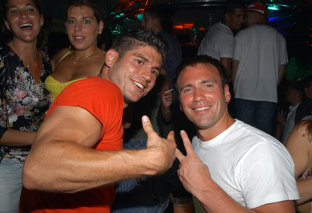 Andrew Levitas and Eric Nies during 'Girls Gone Wild' party in the Hamptons