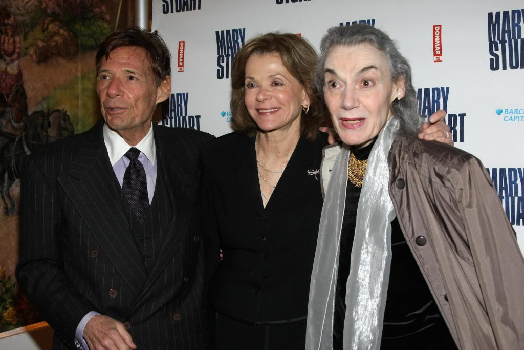 Actor Ron Liebman standing next to wife Jessica Walter from 'Arrested Development,' and Marian Seldes attending a premiere