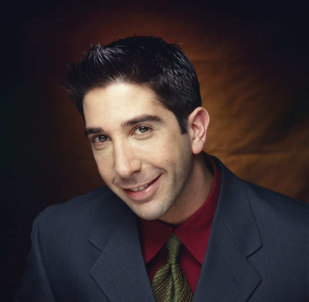 David Schwimmer as Ross Geller in a promotional photo for 'Friends'