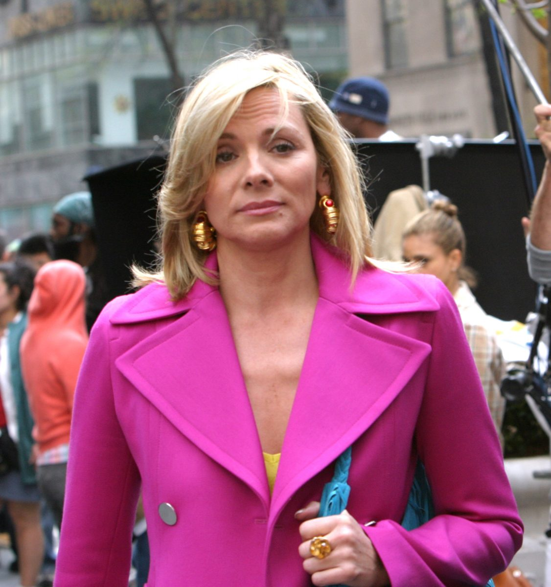 Kim Cattrall on location for 'Sex and the City'