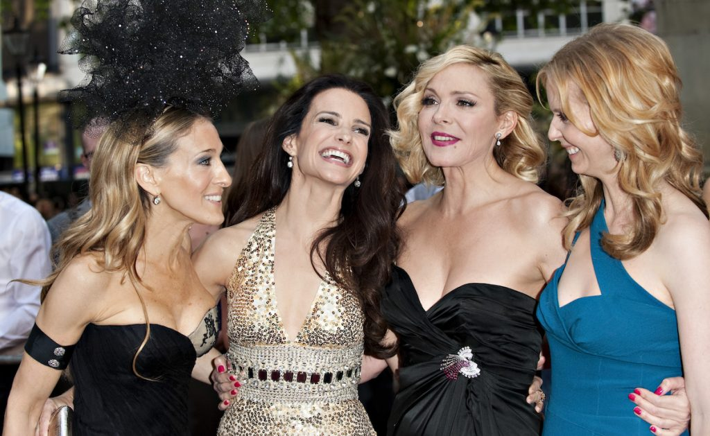 Sarah Jessica Parker, Cynthia Nixon, Kristin Davis And Kim Cattrall pose together at The Uk Film Premiere Of 'Sex And The City 2'