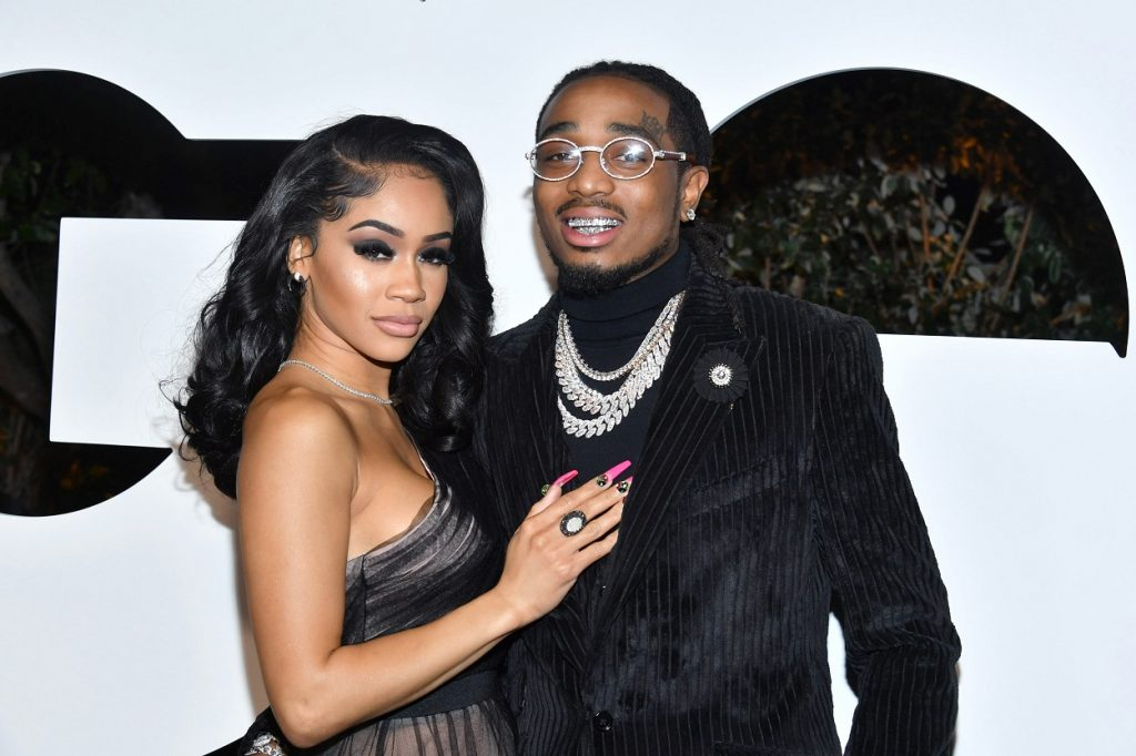 Saweetie and Quavo at the 2019 GQ Man of the Year event