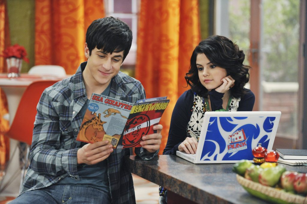 David Henrie and Selena Gomez of The Wizards of Waverly Place'