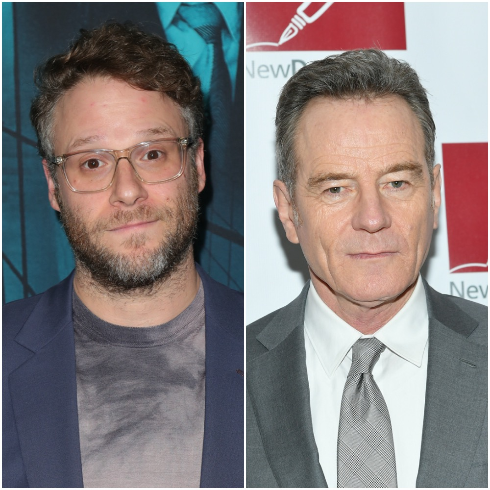 Seth Rogen and Bryan Cranston in a photo