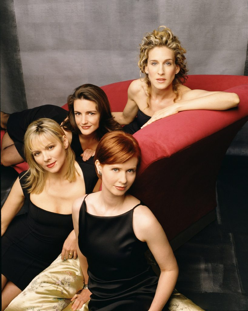 Sarah Jessica Parker, Kristin Davis, Kim Cattrall and Cynthia Nixon pose for promotional photos for 'Sex and the City'