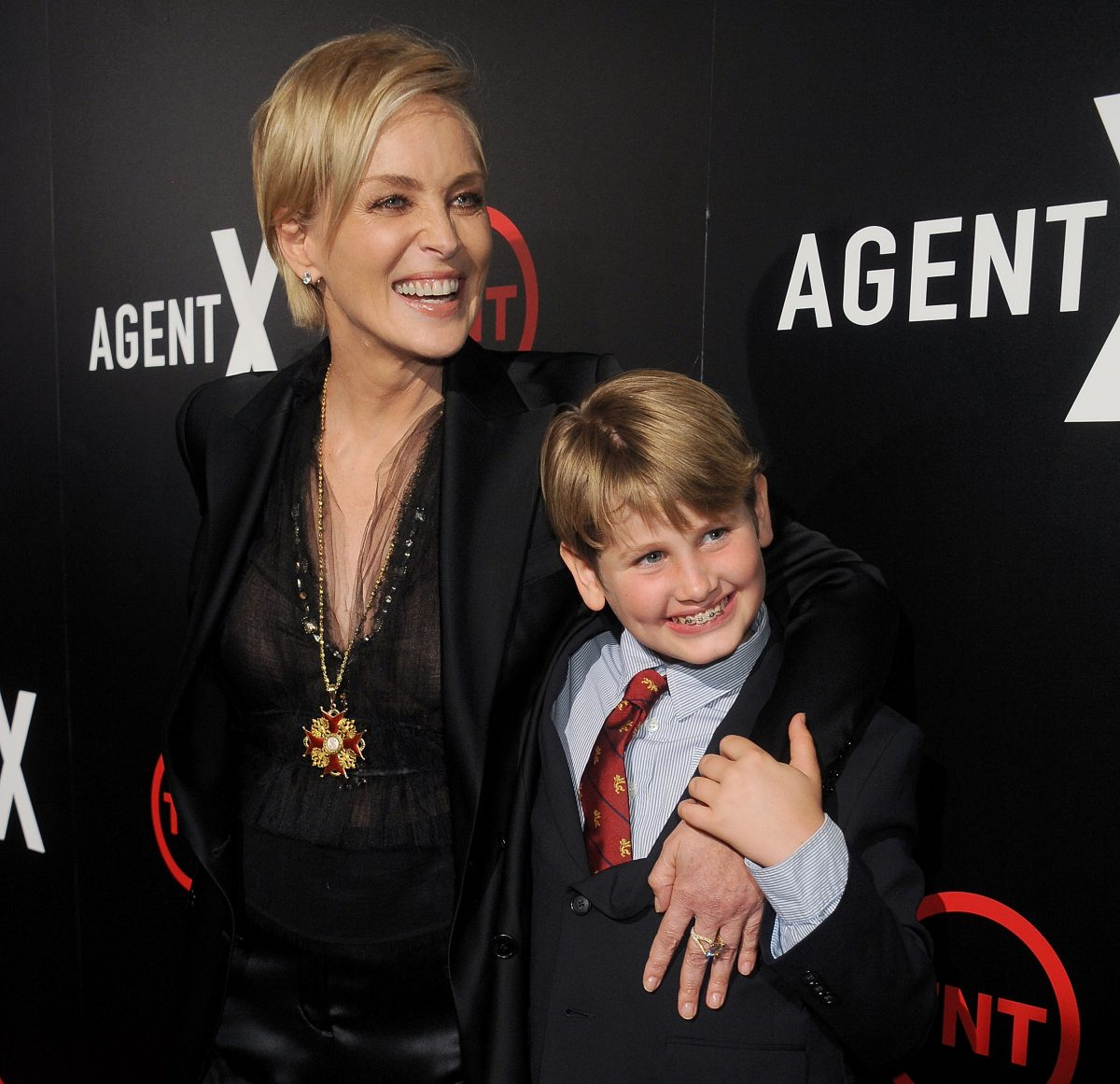 Sharon Stone and Laird on the red carpet