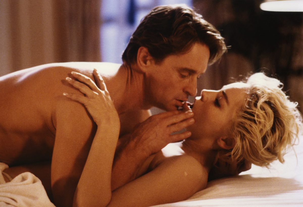 Sharon Stone and Michael Douglas in bed in Basic Instinct