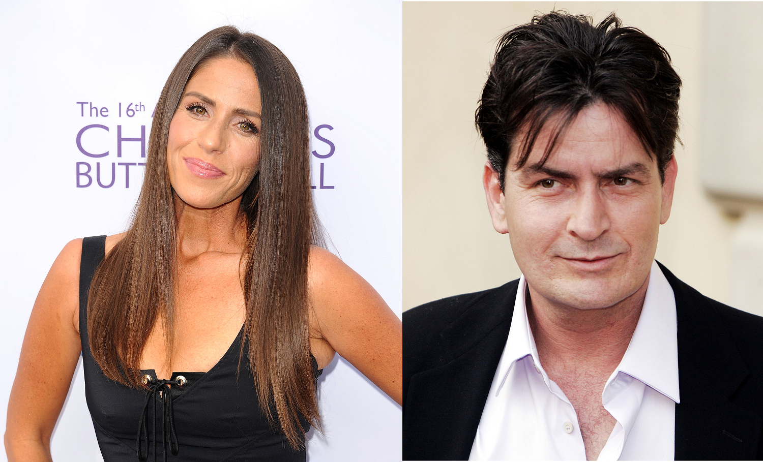 Soleil Moon Frye and Charlie Sheen