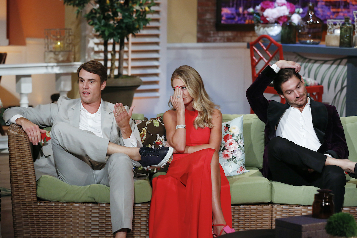 Shepard Rose, Cameran Eubanks, Craig Conover having an awkward moment during the reunion