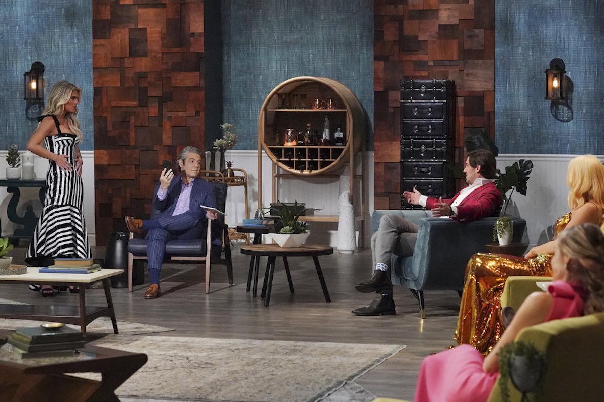 Madison LeCroy, Andy Cohen, Craig Conover during the season 7 reunion