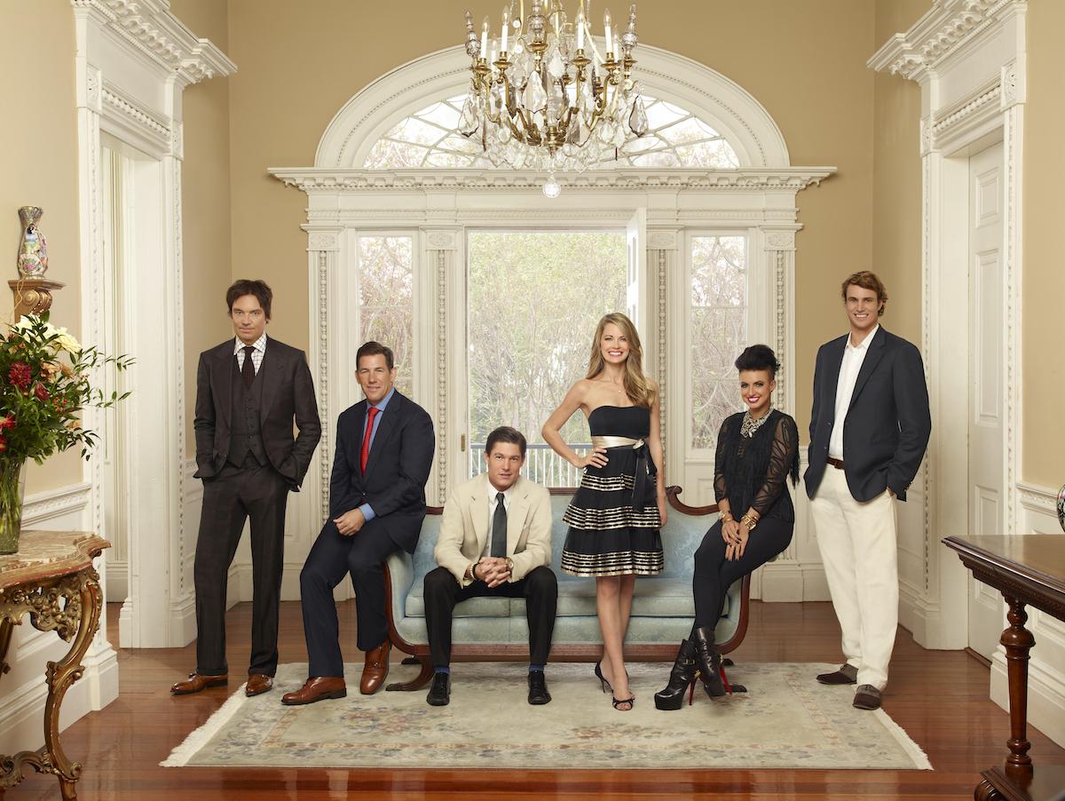 "Whitney Sudler-Smith, Thomas Ravenel, Craig Conover, Cameran Eubanks, Jenna Lee King, William Shepherd ""Shep"" Rose III from season 1 of 'Southern Charm'"
