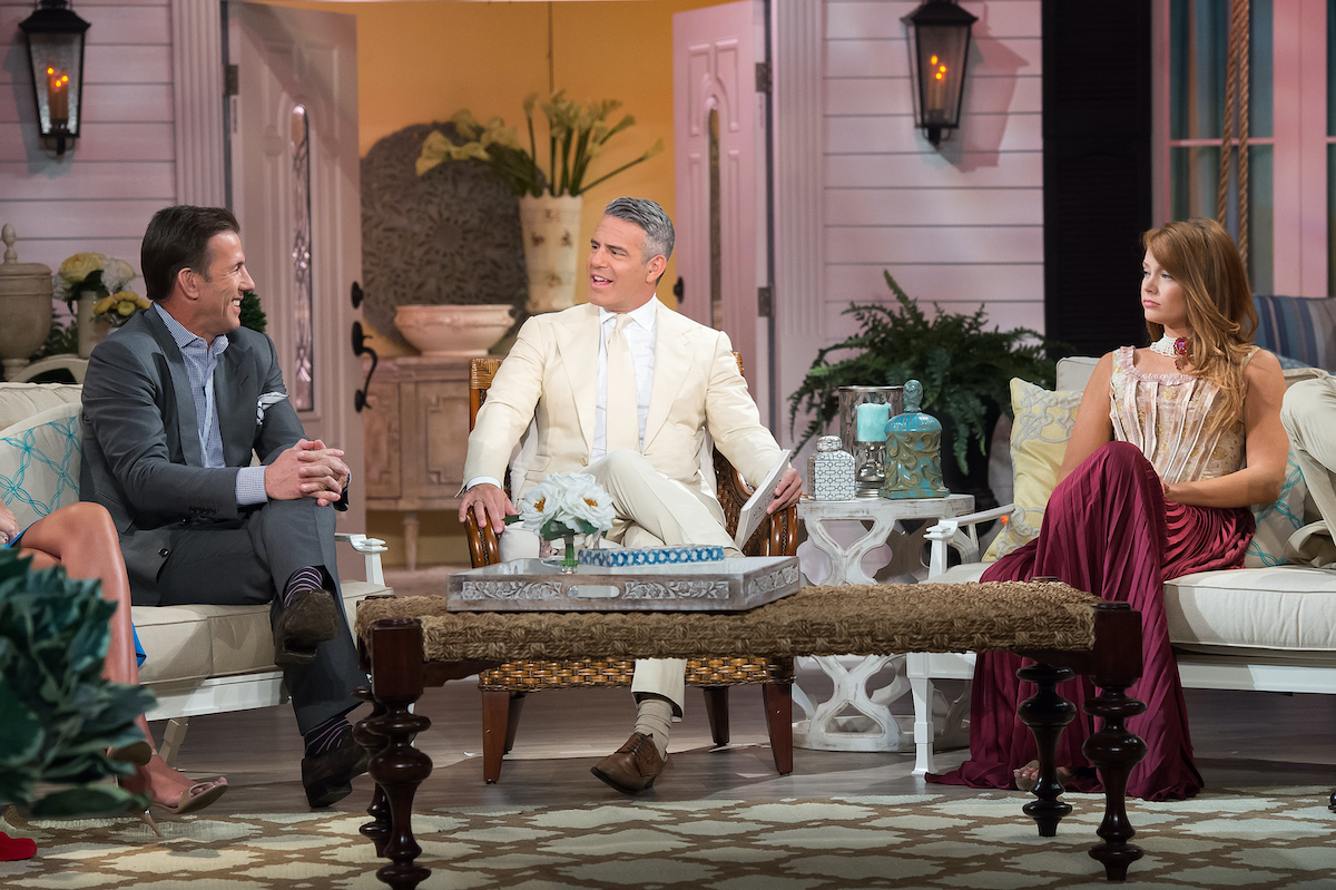 Thomas Ravenel, Andy Cohen, Kathryn Dennis Calhoun at the season 3 reunion