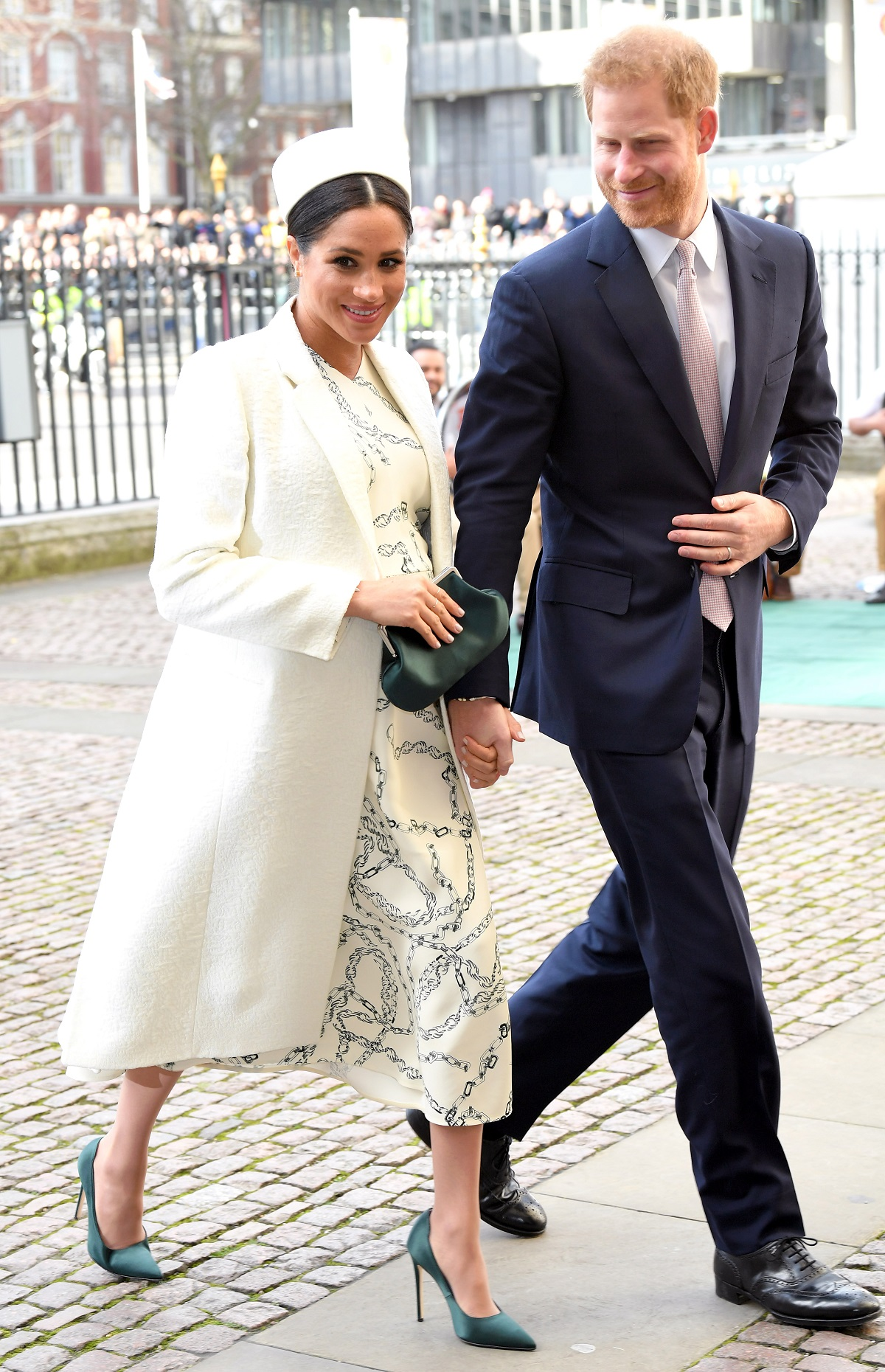 Meghan, Duchess of Sussex and Prince Harry, Duke of Sussex walking into the Commonwealth Day service at Westminster Abbey on March 11, 2019 in London, England.