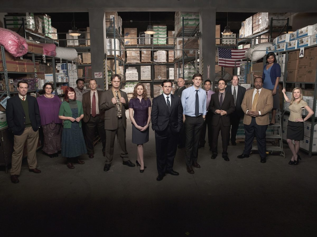 The Office Season 5 cast pose as their characters