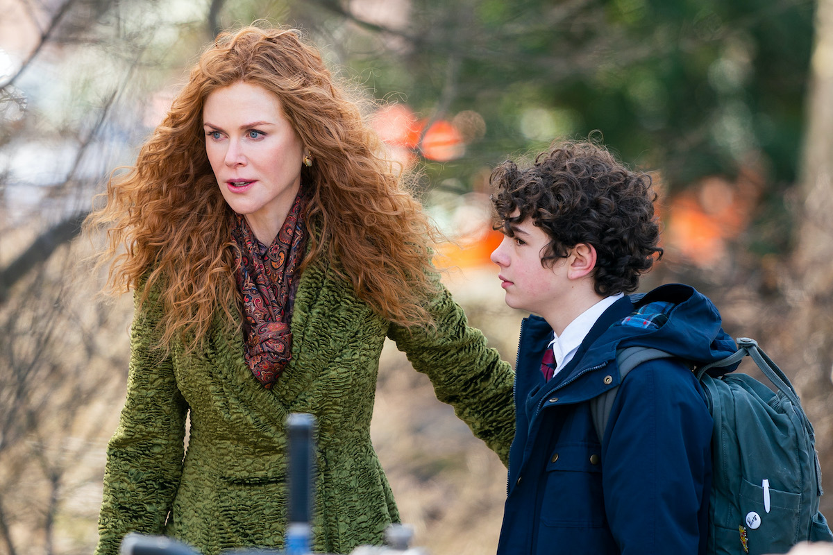 Nicole Kidman is seen on set for 'The Undoing' in Central Park