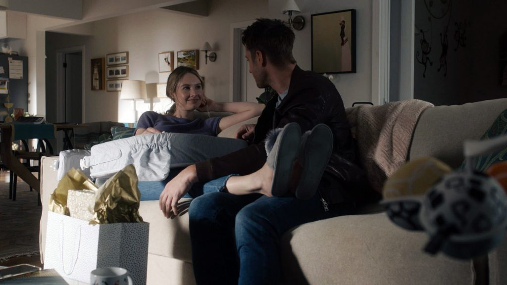 This Is Us season 5 episode 11 Caitlin Thompson as Madison and Justin Hartley as Kevin
