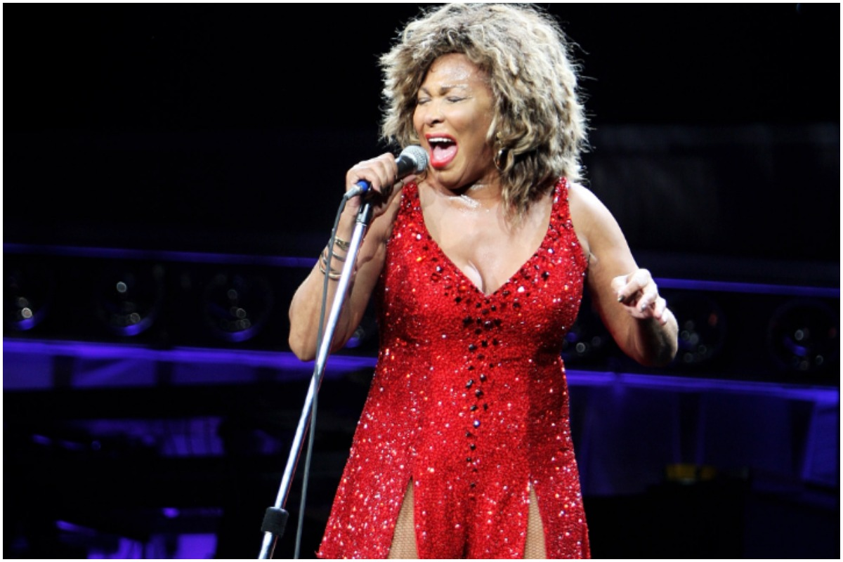 Tina Turner performing in her 2009 tour.