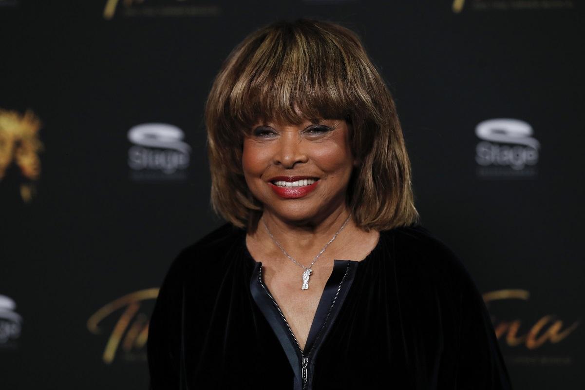 Tina Turner smiles during photo call for the musical 'Tina - Das Tina Turner Musical' in 2018