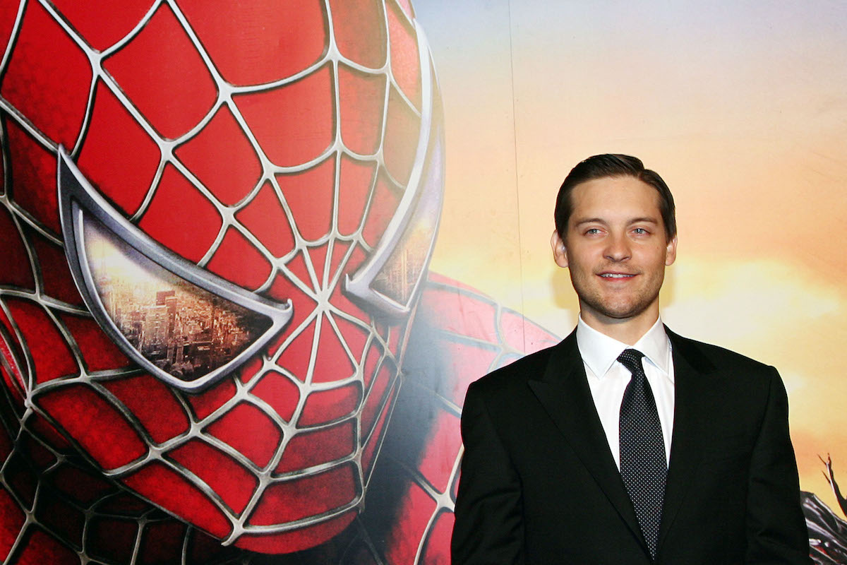 Tobey Maguire at the Italian premiere of 'Spiderman 3'