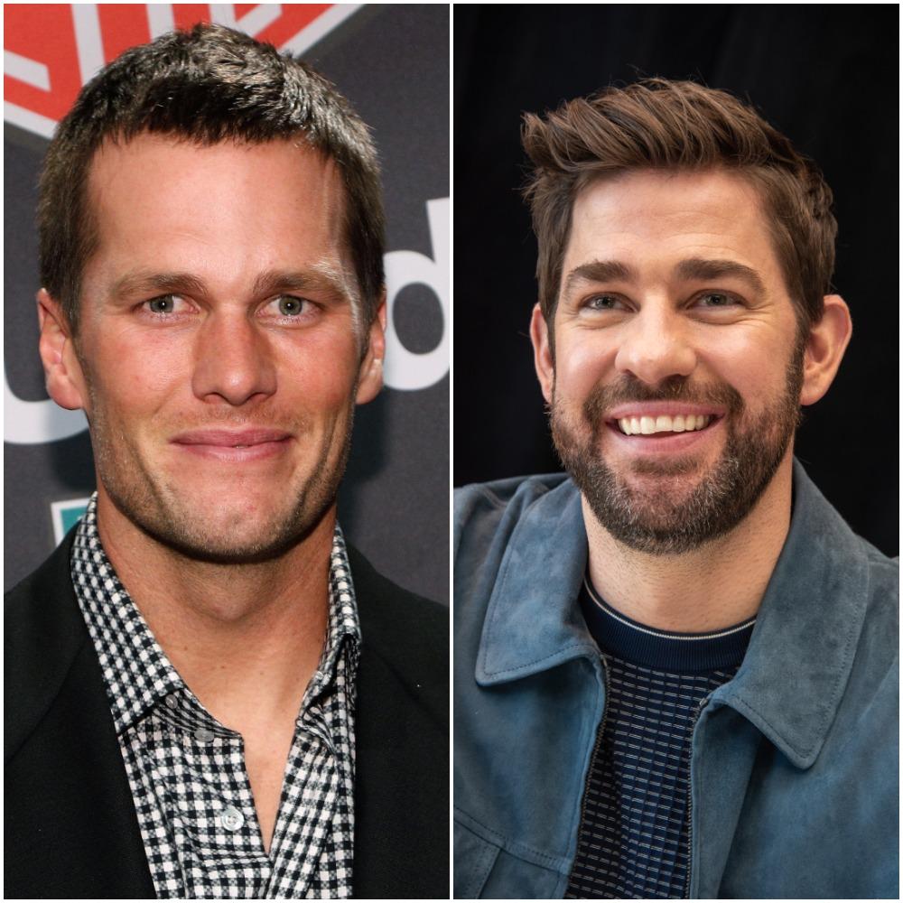 Tom Brady in October 2016; John Krasinski in March 2020
