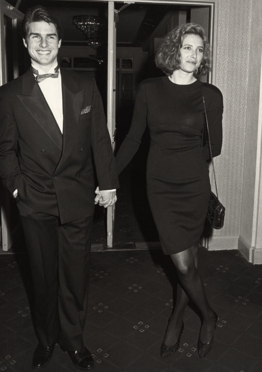 Tom Cruise and Mimi Rogers attend a Tribute to Elia Kazan at the American Museum of Moving Images in 1987