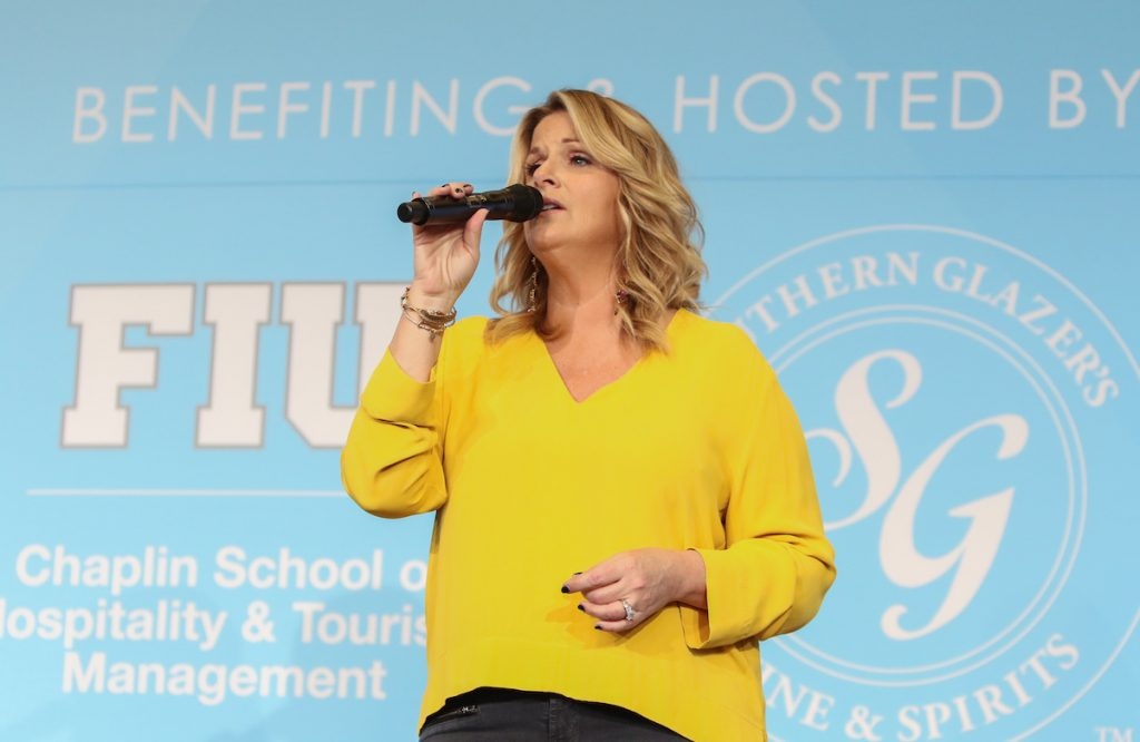 Trisha Yearwood performs at her Southern Kitchen Brunch in 2017
