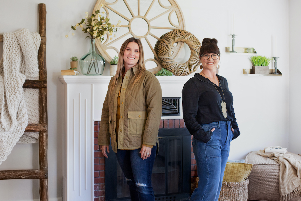 Leslie Davis and Lyndsay Lamb pose for a publicity shot for Unsellable Houses