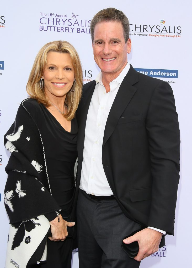 Vanna White and John Donaldson on red carpet together at Chrysalis Butterfly Ball