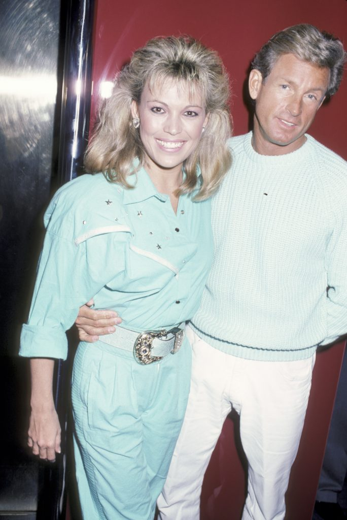 Vanna White with fiancé John Gibson in Beverly Hills in 1986