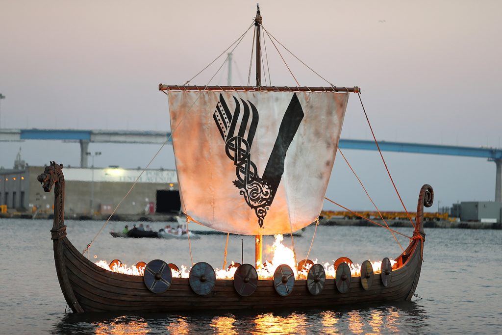 The 'Vikings' ship at San Diego Comic Con 2017