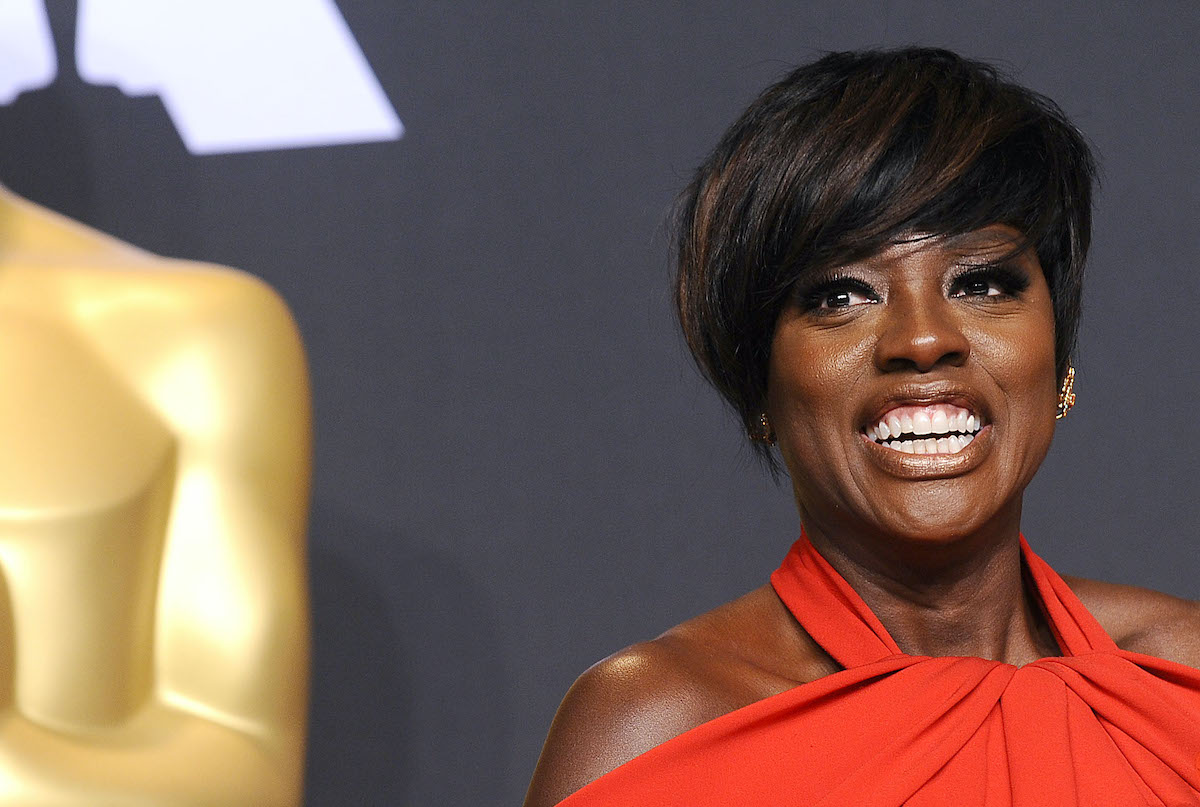 Viola Davis poses in the press room at the 89th Annual Academy Awards in 2017