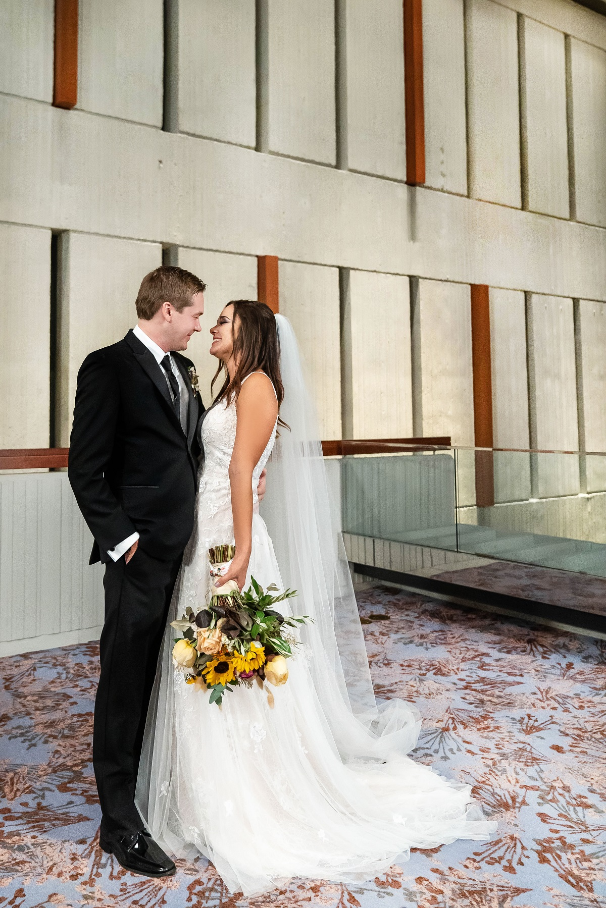 Erik Lake and Virginia Coombs looking into each other's eyes in their wedding day photos on 'Married at First Sight'