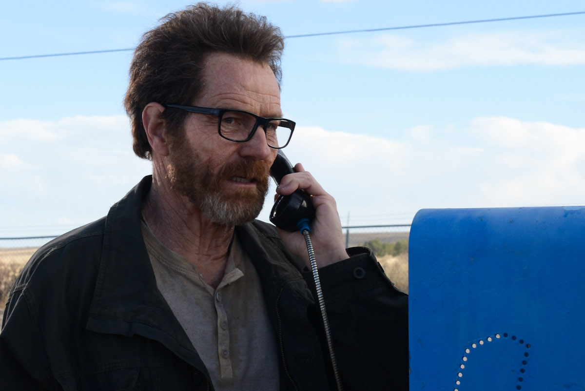 Walter White talks on the phone during an episode of 'Breaking Bad