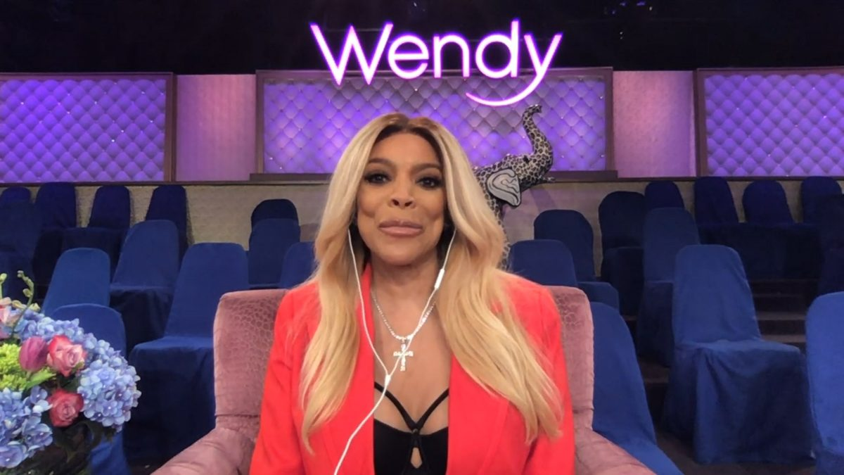 Wendy Williams on the set of 'The Wendy Williams Show'