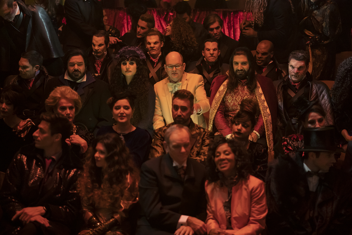The vampires at the theater in the What We Do in the Shadows Season 2 finale