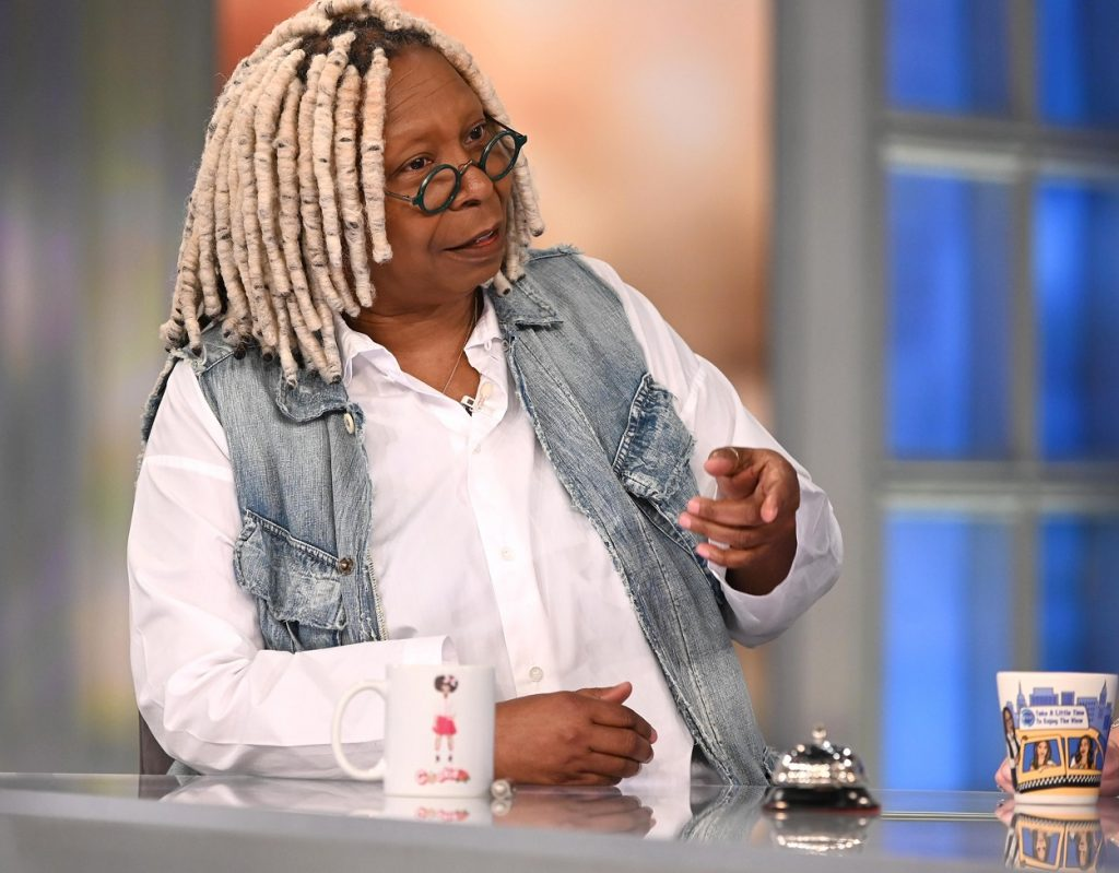 Whoopi Goldberg co-hosting an episode of The View
