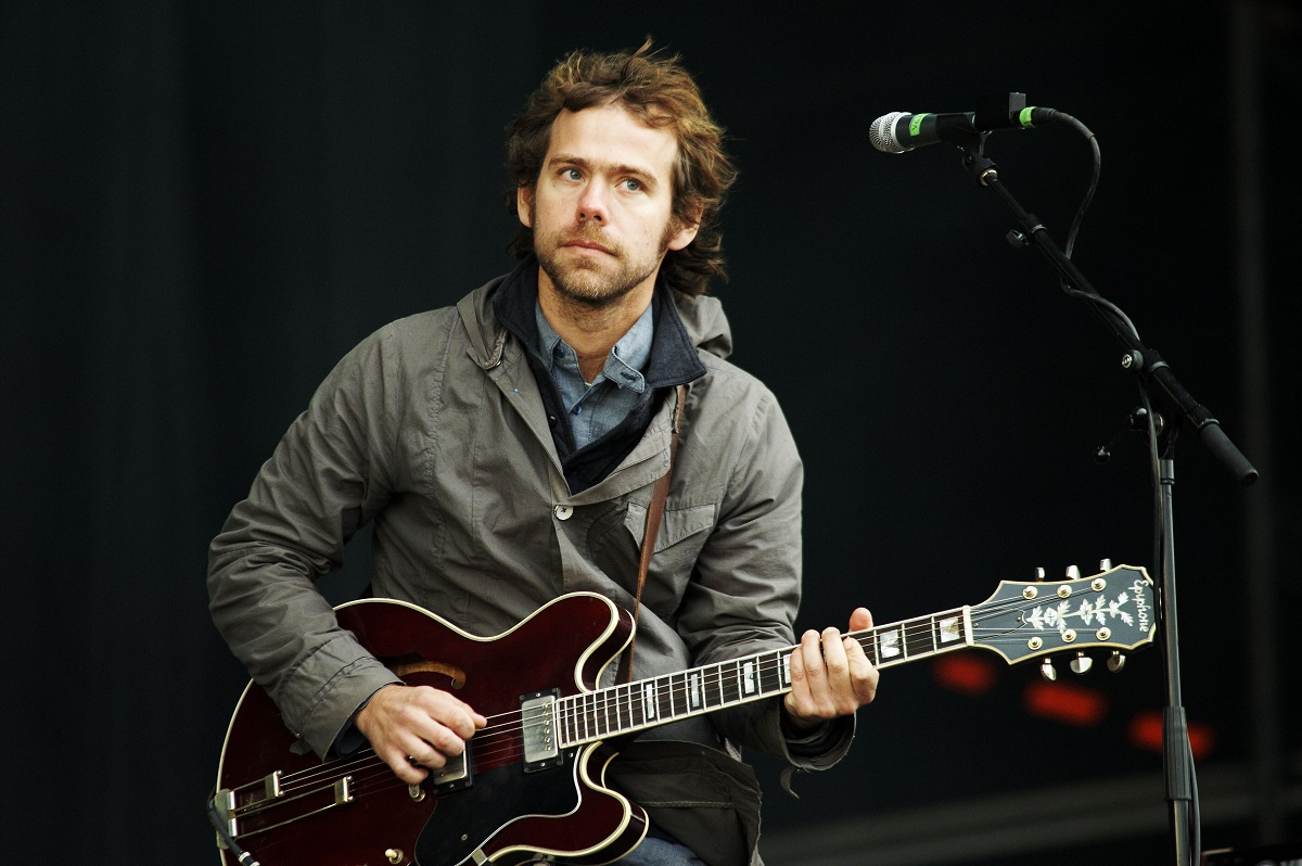 Aaron Dessner of the National performs on August 28, 2011, in Leeds, United Kingdom.