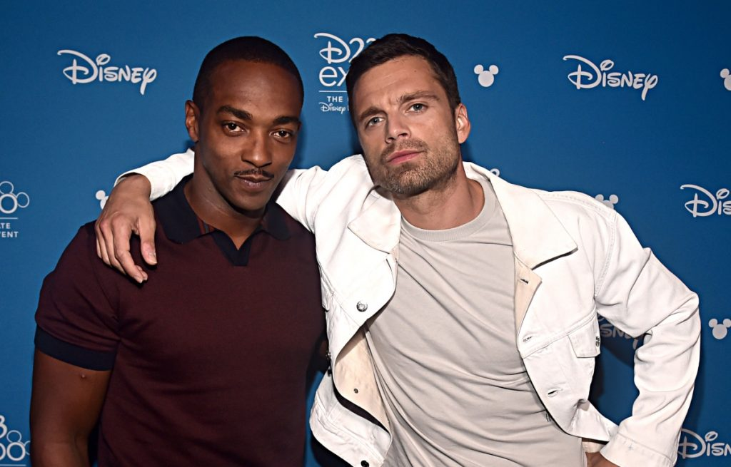 Anthony Mackie and Sebastian Stan of 'The Falcon and the Winter Soldier' in 2019